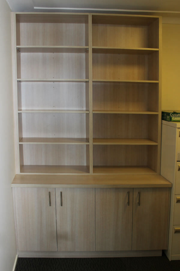 Custom made built in bookcase. Custom made joinery and cabinet making.