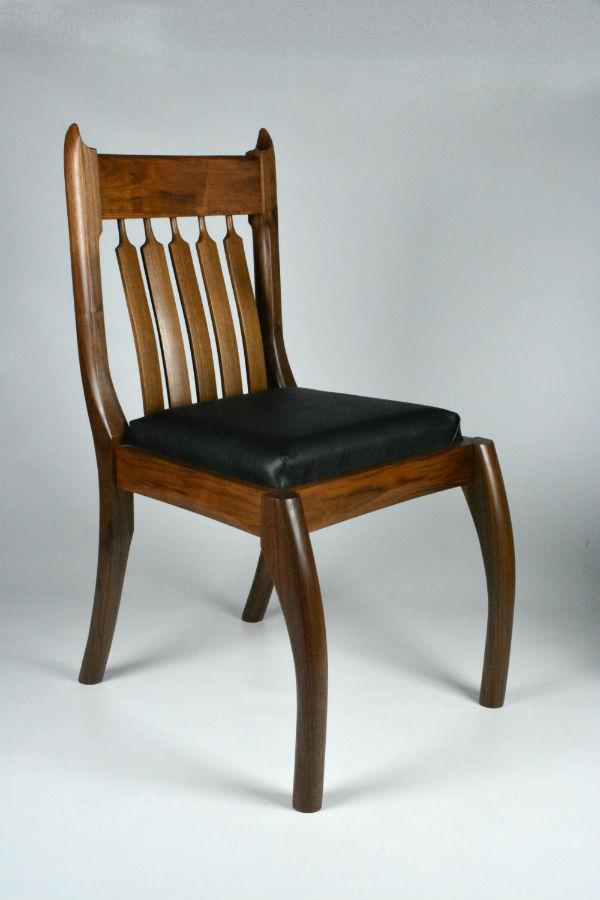 Custom made timber furniture. Custom made furniture and furniture maker. Walnut chair.