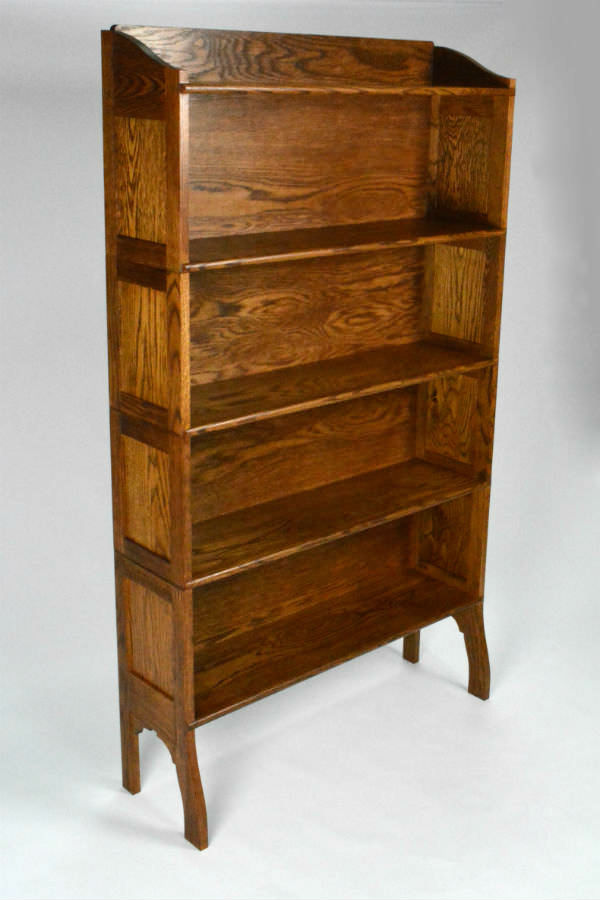 Custom made timber furniture. Custom made furniture and furniture maker. Traditional style bookcase custom made for a customer to match ones they had when they first became married. All solid timber construction with frame and panel.