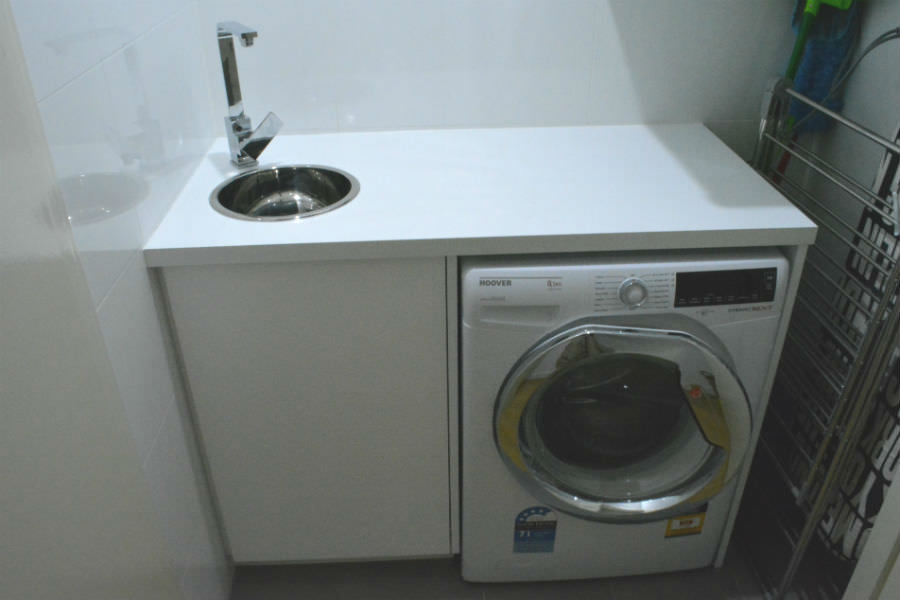 Custom made laundry. Custom made joinery and cabinet making.