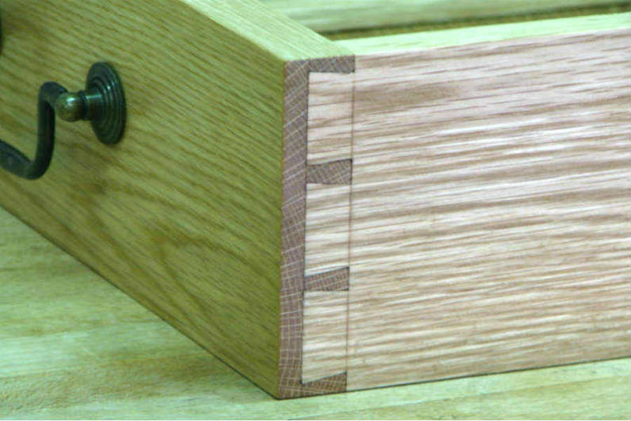Half blind dovetail joint. Custom made timber furniture. Custom made furniture and furniture maker.
