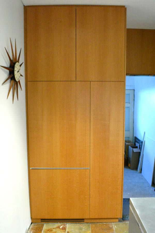 Custom made Integrated Fridge in Silky Oak