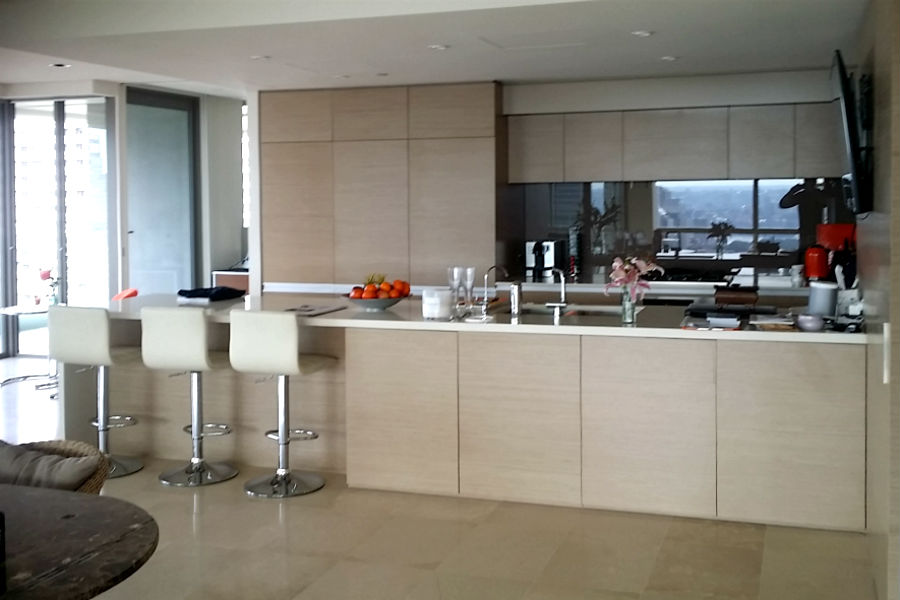 Custom made kitchen in Hyde park. Custom made joinery and cabinet making.